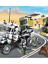 Byggklossar Byggsats Leksaker Utbildningsleksak 400-800 pcs Militär Lastbil kompatibel Legoing Simulering Truck Militärfordon Alla Pojkar Flickor Leksaker Present