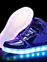 Flickor Lysande skor PU Sneakers Lilla barn (4-7år) / Stora barn (7 år +) Silver / Blå / Rosa Höst / Gummi