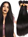 3 paket Peruanskt hår Rak Äkta hår Obehandlat Mänsligt hår Human Hår vävar bunt hår En Pack Lösning 8-28 tum Naturlig Hårförlängning av äkta hår Mjuk Silkig Bästa kvalitet Människohår förlängningar