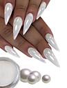 1 pcs Klassisk / Bästa kvalitet Glitter Glitter Till Fingernageö Romantisk serie Klassisker Tema nagel konst manikyr Pedikyr Jul / Halloween / Dagligen Lyx / Rokoko