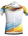 JESOCYCLING Men\'s Short Sleeve Cycling Jersey White Bike Jersey Top Mountain Bike MTB Road Bike Cycling Breathable Quick Dry Moisture Wicking Sports Clothing Apparel / Stretchy