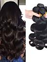 4 paket Peruanskt hår Kroppsvågor Äkta hår Human Hår vävar Hårvård Förlängare 8-28 tum Naurlig färg Hårförlängning av äkta hår Mjuk Silkig Naturlig Människohår förlängningar