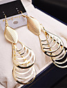Women\'s Drop Earrings Hanging Earrings Hollow Leaf Drop Cheap Vintage Gold Plated Earrings Jewelry Gold / Silver For Wedding Party 1 Pair