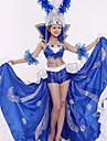 Karnival Spanska damen Vuxna Dam Paljetter Flamenco Halloween Kostym Samba Headdress Till Pajljett Polyster Paljett Halloween Karnival Maskerad Kjolar Topp Huvudbonad