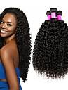 4 paket Brasilianskt hår Kinky Curly Obehandlad hår Human Hår vävar bunt hår En Pack Lösning 8-28 tum Naurlig färg Hårförlängning av äkta hår Alla hjärtans dag Silkig Bästa kvalitet Människohår