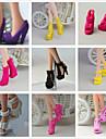 Dockaskor Prinsess Lolita söt stil 9 pcs För Barbie Svart Syntetiskt garn Polyester pvc Skor För Flicka Dockleksak