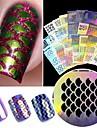 24 pcs Hollow Nail Stickers Kreativ nagel konst manikyr Pedikyr Multifunktion / Bästa kvalitet Trendig / Mode Dagligen