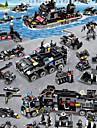 Byggklossar Byggsats Leksaker Utbildningsleksak 400-800 pcs Fordon Militär Flygplan kompatibel Legoing Simulering Militärfordon Polisbil Helicopter Alla Pojkar Flickor Leksaker Present