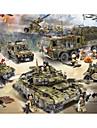 Byggklossar Byggklossfigurer Leksaksset 256-1386 pcs Militär Stridsvagn Krigsfartyg kompatibel Legoing Simulering Militärfordon Stridsvagn Flygplan Alla Pojkar Flickor Leksaker Present