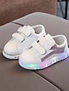 Flickor Komfort / Lysande skor PU Sneakers Småbarn (9m-4ys) / Lilla barn (4-7år) Karborreband Silver / Regnbåge / Rosa Höst vinter / Gummi