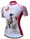 TELEYI Dam Kortärmad Cykeltröja Rosa Blommig Botanisk Plusstorlekar Cykel Tröja Överdelar Bergscykling Vägcykling Andningsfunktion Fuktabsorberande Snabb tork sporter Polyester Kläder / Elastisk
