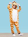 Kigurumi-pyjamas Giraff Onesie-pyjamas Polär Ull Gul Cosplay För Pojkar och flickor Pyjamas med djur Tecknad serie Festival / högtid Kostymer