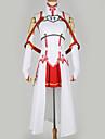 Inspirerad av SAO Swords Art Online Asuna Yuuki Animé Cosplay-kostymer Japanska cosplay Suits Specialdesign Topp / Kjol / Mer accessoarer Till Herr / Dam