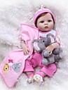 NPKCOLLECTION 24 tum NPK DOLL Reborn-dockor Flicka Doll Babyflickor Reborn Toddler Doll Nyfödd levande Konstgjord implantering Blå ögon Full Body Silicone med kläder och accessoarer för flickors