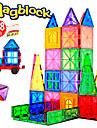 Attop Magnetiskt block Magnetiska plattor 218 pcs Kreativ geometriska mönster Färggradient Alla Pojkar Flickor Leksaker Present