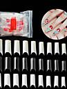 500st pvc Konstgjorda nageltips Till Fingernageö Bästa kvalitet Romantisk serie nagel konst manikyr Pedikyr Stilig / Unik design Dagligen