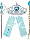 Prinsessa Elsa Anna panna Crown Magic Stick Halloween Nyår Resin PP Till Jul Halloween Maskerad Flickor Harts Mörkblå Kostymsmycken / Handskar / Huvudbonad / Handskar / Huvudbonad / Pinne