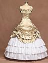 Classic Lolita Victoriansk Medeltida kostymer Klänningar Balklänning Dam Flickor Satin Japanska Cosplay-kostymer Svart / Mintgrön / Emerald Grön Lolita Ärmlös Golvlång