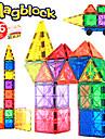 Magnetiskt block Magnetiska plattor 86 pcs Kreativ geometriska mönster Färggradient Alla Pojkar Flickor Leksaker Present