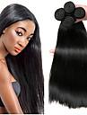 4 paket Brasilianskt hår Rak Obehandlat Mänsligt hår Human Hår vävar Förlängare bunt hår 8-28 tum Naurlig färg Hårförlängning av äkta hår Mjuk Bästa kvalitet Heta Försäljning Människohår förlängningar