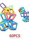 Magnetiskt block Magnetiska plattor 60 pcs geometriska mönster Alla Pojkar Flickor Leksaker Present