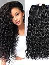 4 paket Brasilianskt hår Vattenvågor Obehandlad hår Huvudbonad Human Hår vävar Hårvård 8-28 tum Naurlig färg Hårförlängning av äkta hår Mjuk Bästa kvalitet Heta Försäljning Människohår förlängningar