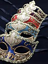 Mask Venetian Mask Masquerade Mask Inspirerad av Venetian Svart Azure Fest / afton Vintage Halloween Karnival Maskerad Vuxna Dam / Halvmask