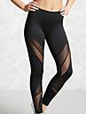 Women's Sporty Legging - Color Block, Cut Out Mid Waist Black S M L / Slim