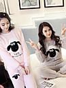 Vuxna Huvtröja Kigurumi-pyjamas Får Onesie-pyjamas Coral Velve Rosa / Grå Cosplay För Herr och Dam Pyjamas med djur Tecknad serie Festival / högtid Kostymer