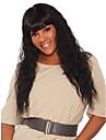 Remy-hår Spetsfront Peruk stil Brasilianskt hår Stora vågor Svart Peruk 180% Hårtäthet Luktfri Len Dam Bästa kvalitet Tjock Dam Mellan Äkta peruker med hätta WoWEbony