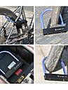 Wheel up U-lås för cykel Bärbar Slitsäker Säkerhet Till Racercykel Mountain Bike Cykelsport Metall Svart