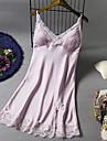 女性用 スカート - ソリッド レース ブラック ピンク ネイビーブルー M L XL / セクシー