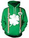 Maskerad Vuxna Herr Halloween Karnival St Patricks Day Festival / högtid Polyster Grön Karnival Kostymer Löv 4 blad Shamrock Novelty