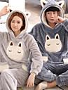 Vuxna Huvtröja Kigurumi-pyjamas Kanin Onesie-pyjamas Flanelltyg Brun / Gul / Grön Cosplay För Herr och Dam Pyjamas med djur Tecknad serie Festival / högtid Kostymer