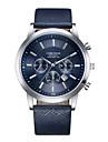 Men\'s Sport Watch Dress Watch Wrist Watch Quartz Luxury Calendar / date / day Analog Black / White Black Blue / One Year / Stainless Steel / Leather / Shock Resistant