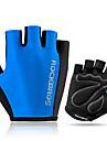 ROCKBROS Bike Gloves / Cycling Gloves Mountain Bike Gloves Mountain Bike MTB Road Bike Cycling Lightweight Sunscreen Breathable Padded Fingerless Gloves Half Finger Sports Gloves Sponge Mesh Terry