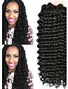 3 paket Brasilianskt hår Stora vågor Obehandlad hår Huvudbonad Human Hår vävar bunt hår 8-28 tum Naurlig färg Hårförlängning av äkta hår Len Bästa kvalitet Heta Försäljning Människohår förlängningar