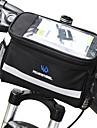 ROSWHEEL 4.5 L Väska till cykelstyret Fuktighetsskyddad Bärbar Stötsäker Cykelväska pvc 600D Polyester Cykelväska Pyöräilylaukku Samsung Galaxy S6 / iPhone 4/4S / LG G3 Cykling / Cykel