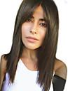 Mänskligt hår Peruk Lång Naturlig Straight Sidodel Svart Moderiktig design Heta Försäljning Bekväm Utan lock Dam Medium Rödbrun Kolsvart Gul 24 tum / Naturlig hårlinje / Naturlig hårlinje