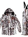 Herr Jacka för vandring inkl. byxor Kamouflage Utomhus Vinter Vindtät Andningsfunktion Slitstyrka Vinterjacka Överdelar Enda reglaget Jakt Camping / Vandring / Grottkrypning Backcountry Vit