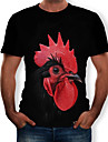 Men\'s Tees T shirt 3D Print Graphic Chicken Animal Print Short Sleeve Casual Tops Chic & Modern Funny Comfortable Big and Tall Black Red Grey