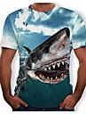 Men's Animal T-shirt Round Neck Black / Blue / Red / Gray