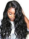 Syntetiska snörning framifrån Vågigt Vattenvågor Frisyr i lager Sidodel L-formad hätta Peruk Lång Svart Syntetiskt hår 26 tum Dam Mjuk Ny ankomst Naturlig hårlinje Svart Modernfairy Hair