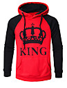 Men\'s Casual / Street chic Hoodie - Cartoon / Letter Red XL