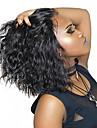 Äkta hår 4x13 Stängning Spetsfront Peruk Bob-frisyr Kort Bob Rihanna stil Brasilianskt hår Lockigt Naturlig Peruk 130% 150% Hårtäthet med babyhår Naturlig hårlinje Afro-amerikansk peruk Till färgade