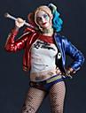Burlesk / CLågn Cosplay Harley Quinn Cosplay Kostymer / Dräkter Dam Film-cosplay Halloween Rubinrött Kappa Handskar Shorts Halloween Karnival Maskerad Polyster / T-shirt / T-shirt