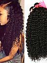 4 paket Brasilianskt hår Kinky Curly 100% Remy Hair Weave Bundles Huvudbonad Human Hår vävar bunt hår 8-28 tum Naurlig färg Hårförlängning av äkta hår Luktfri Silkig Till färgade kvinnor Människohår