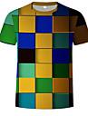 Men\'s Cotton T-shirt - 3D Print Round Neck Rainbow
