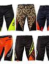 Herr MTB-shorts Cykel Byxor Underdelar Snabb tork sporter Rutig Bomull Grön / Svart / Svart / grön / Svart / Orange Bergscykling Vägcykling Kläder Formpassad Cykelkläder / Elastisk