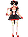 hjärter Dam Cosplay Kostymer / Dräkter Vuxna Dam Cosplay Halloween Halloween Karnival Maskerad Festival / högtid Polyster Röd+Svart Dam Karnival Kostymer Lappverk